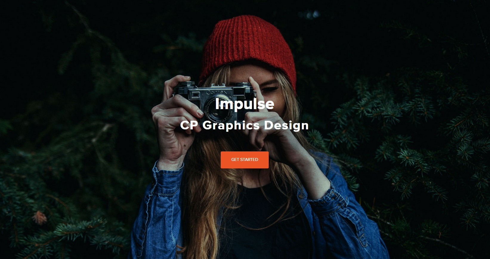 Impulse Parallax One Page Theme with on page editing snapshot